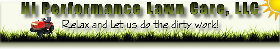 Hi Performance Lawn Care home page